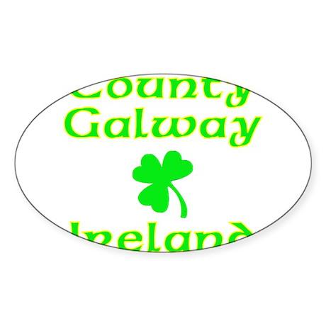 County Galway, Ireland Oval Sticker