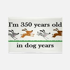 50 dog years birthday 2 Rectangle Magnet (100 pack