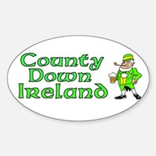 County Down, Ireland Oval Decal