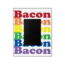 funny bacon text rainbow Picture Frame