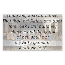 Matthew 16:18 Stickers
