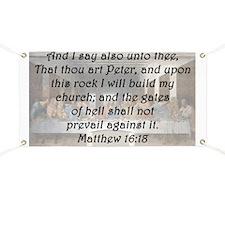 Matthew 16:18 Banner