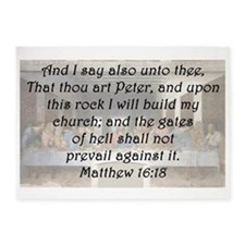 Matthew 16:18 5'x7'Area Rug