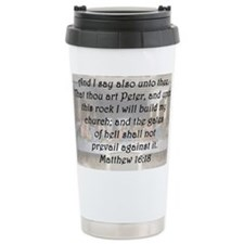 Matthew 16:18 Travel Mug