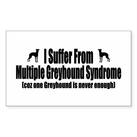 Greyhound Sticker (Rectangle)