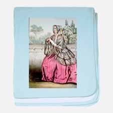 Caroline - 1848 baby blanket