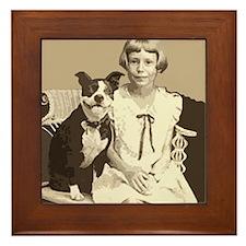 Vintage Best Friend Framed Tile