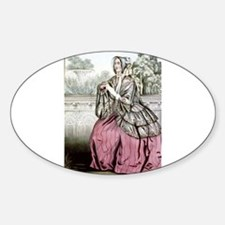 Caroline - 1848 Sticker (Oval)