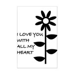 I LOVE YOU WITH ALL MY HEART Mini Poster Print