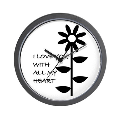 I LOVE YOU WITH ALL MY HEART Wall Clock