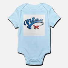 Pilot with Red Plane Infant Bodysuit