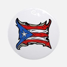 Puerto Rico Heat Flag Ornament (Round)