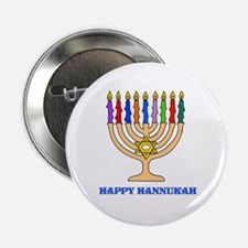 "Hannukah Menorah 2.25"" Button (100 pack)"