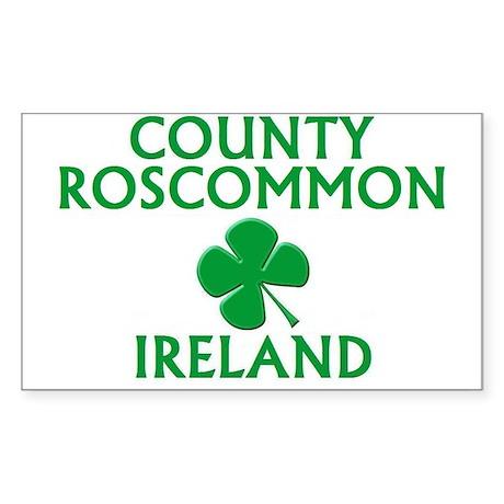 County Roscommon Ireland Rectangle Decal By Irishasaurus
