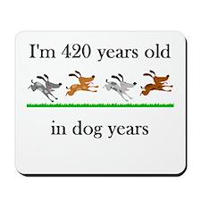 60 birthday dog years 1 Mousepad
