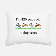 60 birthday dog years 1 Rectangular Canvas Pillow