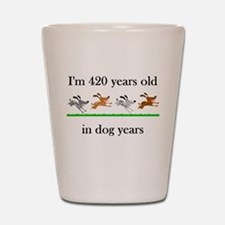 60 birthday dog years 1 Shot Glass