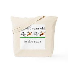 60 birthday dog years 1 Tote Bag