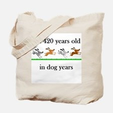 60 birthday dog years 1 Tote Bag