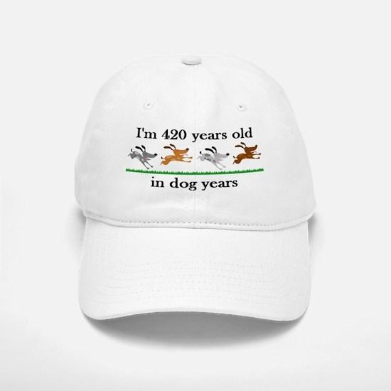 60 birthday dog years 2 Baseball Baseball Baseball Cap