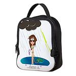 Rainy Day at the Beach Neoprene Lunch Bag