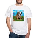 Puppy Dream Meadow White T-Shirt