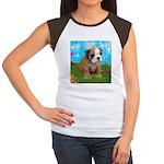 Puppy Dream Meadow Women's Cap Sleeve T-Shirt
