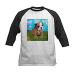 Puppy Dream Meadow Kids Baseball Jersey