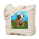 Puppy Dream Meadow Tote Bag