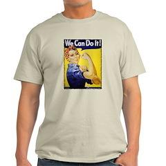 Vintage Rosie The Riveter Ash Grey T-Shirt