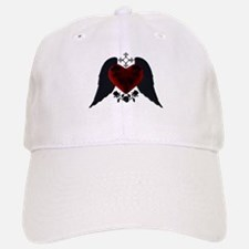 Black Winged Goth Heart Baseball Baseball Baseball Cap