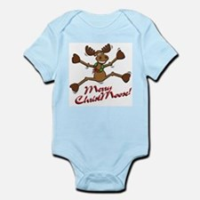 Merry Christmoose [jumping] Infant Bodysuit