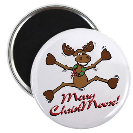 Merry Christmoose [jumping] Magnet