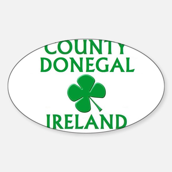 County Donegal, Ireland Oval Decal