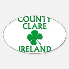 County Clare, Ireland Oval Decal