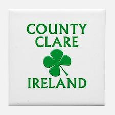 County Clare, Ireland Tile Coaster