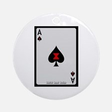 Ace of Spades Card Ornament (Round)