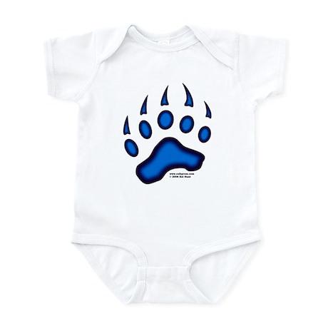 Blue Glow Bear Paw Infant Bodysuit