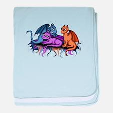 3 Dragonbabys baby blanket