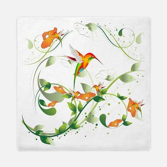 Hummingbird Morning Queen Duvet