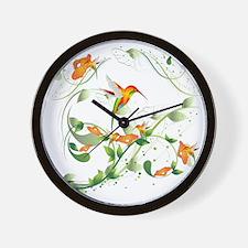 Hummingbird Morning Wall Clock