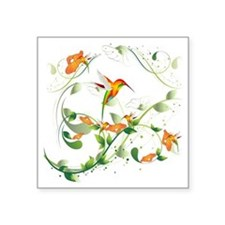 "Hummingbird Morning Square Sticker 3"" x 3"""