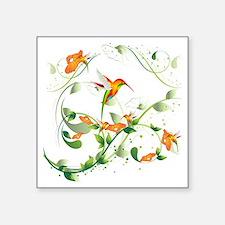 "Hummingbird Morning Square Sticker 3"" x 3"""