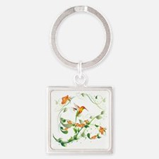 Hummingbird Morning Square Keychain