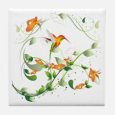 Hummingbird Morning Tile Coaster