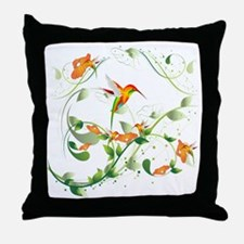 Hummingbird Morning Throw Pillow