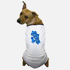 Blue Honu and Hibiscus Dog T-Shirt