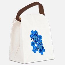 Blue Honu and Hibiscus Canvas Lunch Bag