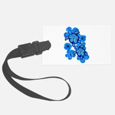 Blue Honu and Hibiscus Luggage Tag