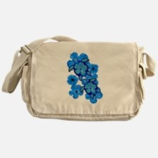 Blue Honu and Hibiscus Messenger Bag